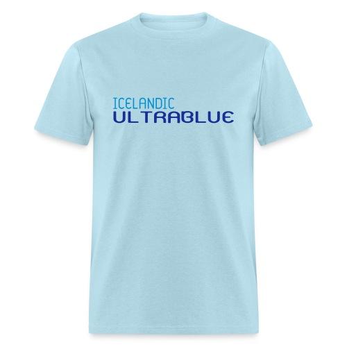 Icelandic Ultrablue [Words Only] (Men's Basic Tee) - Men's T-Shirt