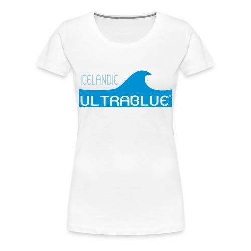 Icelandic Ultrablue [Wave Logo] (Women's Tee) - Women's Premium T-Shirt