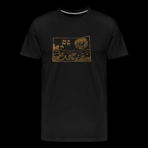 South Coast Dead Beat Rock ON BLACK premium men's short sleeve - Men's Premium T-Shirt