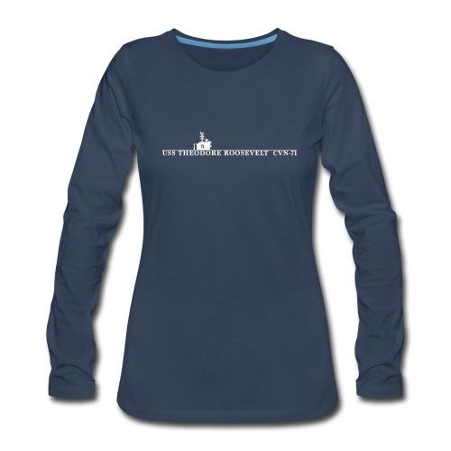 USS THEODORE ROOSEVELT CVN-71 WOMENS WATERLINE LONG SLEEVE - Women's Premium Long Sleeve T-Shirt