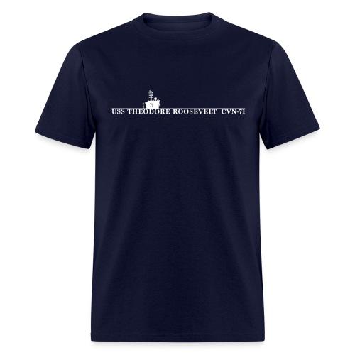 USS THEODORE ROOSEVELT CVN-71 WATERLINE TEE - Men's T-Shirt