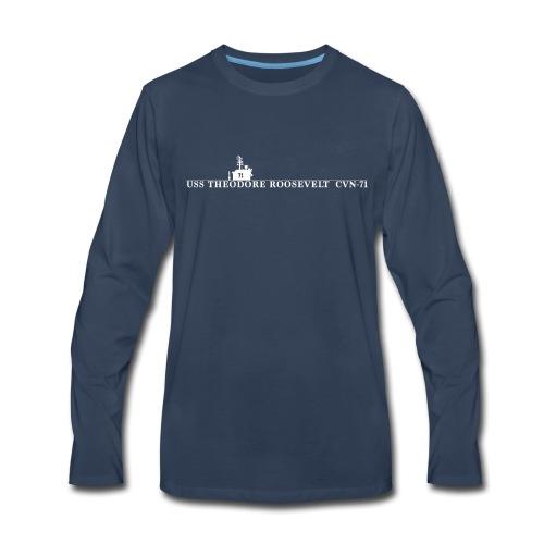 USS THEODORE ROOSEVELT CVN-71 WATERLINE LONG SLEEVE - Men's Premium Long Sleeve T-Shirt