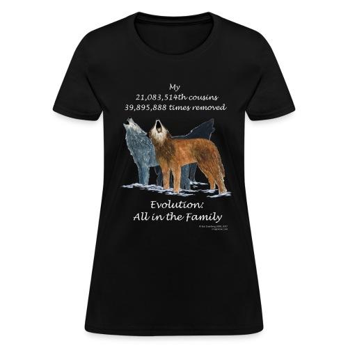 Women's wolves black tee shirt - Women's T-Shirt