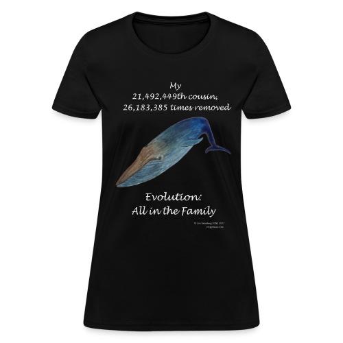 Women's whale black tee shirt - Women's T-Shirt