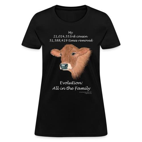 Women's cow black tee - Women's T-Shirt