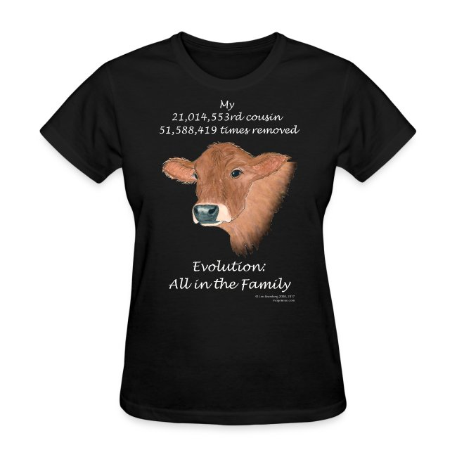 Women's cow black tee