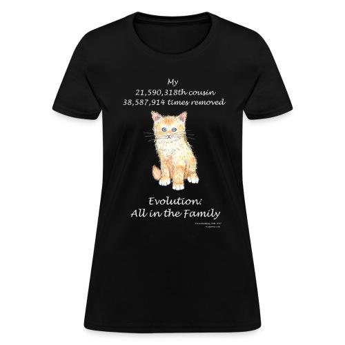 Women's cat black tee - Women's T-Shirt