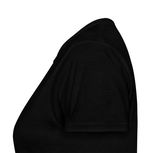 Women's cat black tee