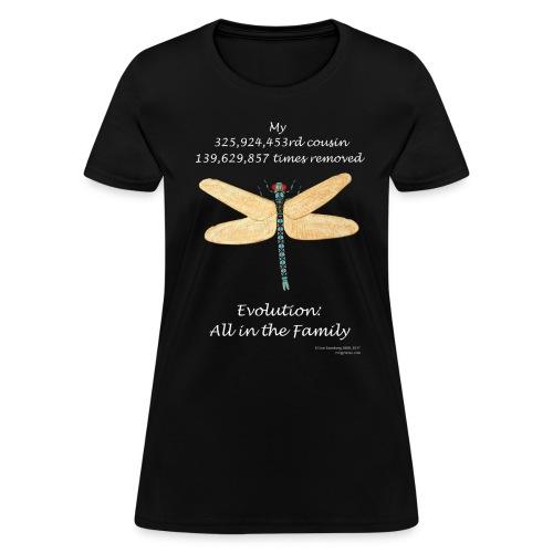Women's dragonfly black tee - Women's T-Shirt