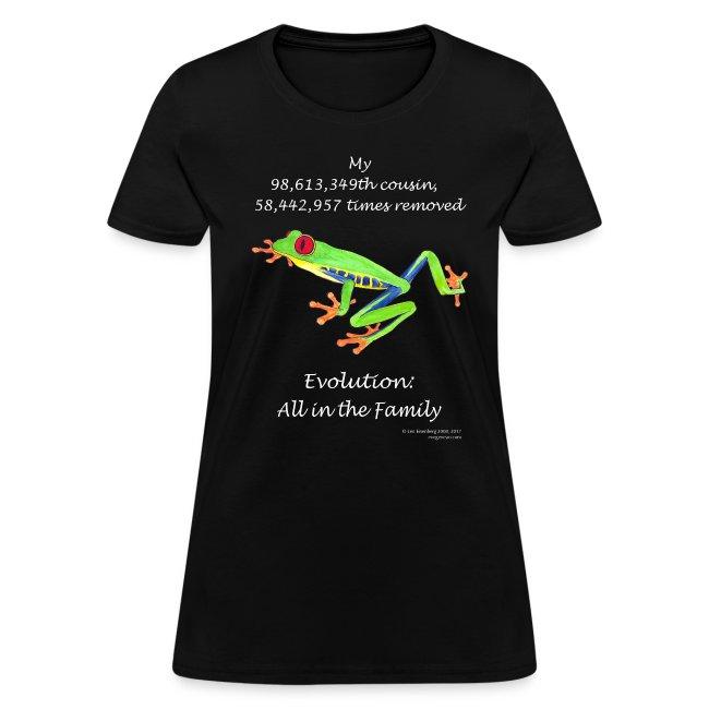 Women's frog black tee
