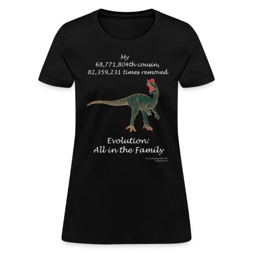 Women's dinosaur black tee - Women's T-Shirt
