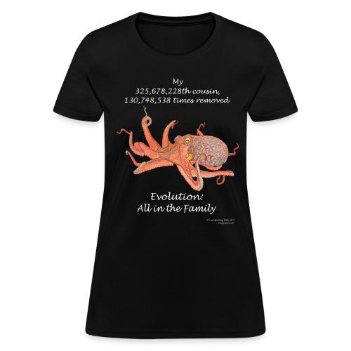 Women's octopus black tee - Women's T-Shirt