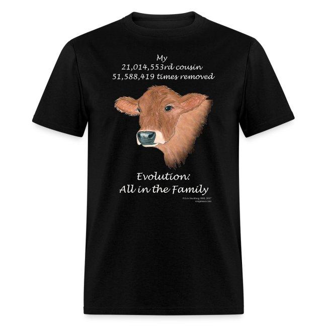 Cow black tee shirt