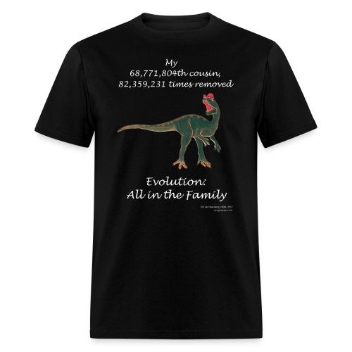 Dinosaur black tee shirt - Men's T-Shirt