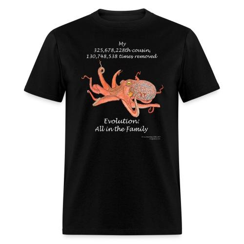 Octopus black tee shirt - Men's T-Shirt