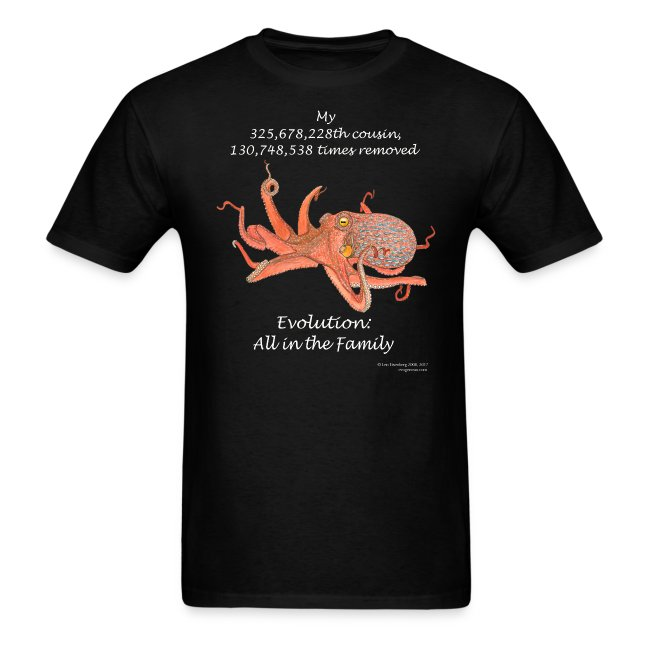 Octopus black tee shirt