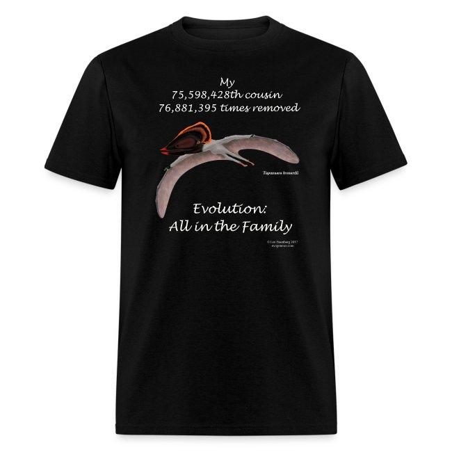 Pterosaur black tee shirt