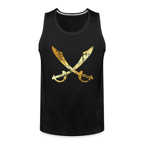 Crossed Pirate Sabers (Ancient Gold)