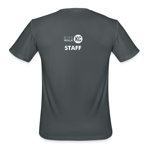 BikeWalkKC Staff T-Shirt - Men's Moisture Wicking Performance T-Shirt