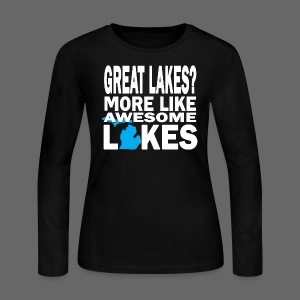 Great Lakes Awesome Lakes - Women's Long Sleeve Jersey T-Shirt
