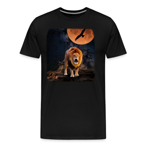 Lion Full Moon - Men's Premium T-Shirt