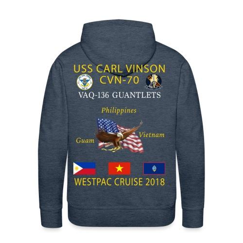 VAQ-136 w/ USS CARL VINSON 2018 CRUISE HOODIE  - Men's Premium Hoodie