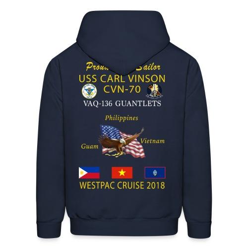 VAQ-136 w/ USS CARL VINSON 2018 CRUISE HOODIE - FAMILY - Men's Hoodie