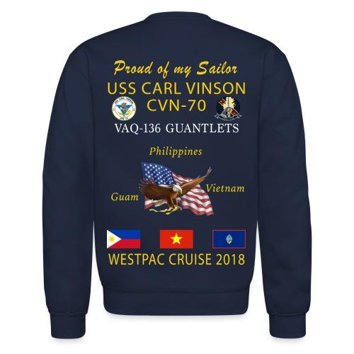 VAQ-136 w/ USS CARL VINSON 2018 CRUISE SWEATSHIRT - Crewneck Sweatshirt