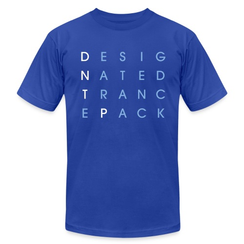 Grid (White/Powder Blue) - Male - Men's Fine Jersey T-Shirt