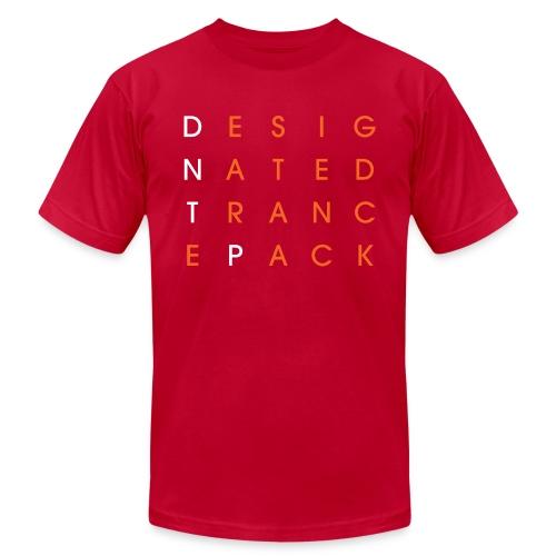 Grid (White/Orange) - Male - Men's  Jersey T-Shirt