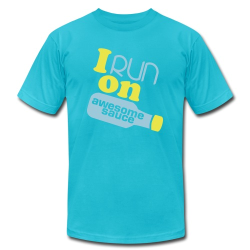 I run on Awesome Sauce for men! - Men's  Jersey T-Shirt