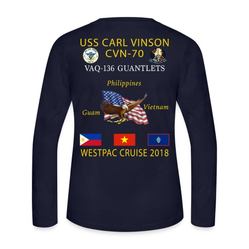VAQ-136 w/ USS CARL VINSON 2018 WOMENS LONG SLEEVE CRUISE SHIRT - Women's Long Sleeve Jersey T-Shirt
