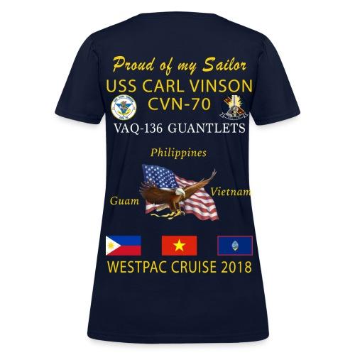 VAQ-136 w/ USS CARL VINSON 2018 WOMENS CRUISE SHIRT - FAMILY - Women's T-Shirt