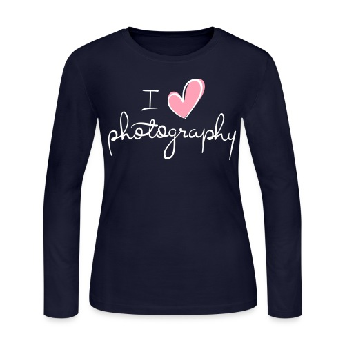 I love photography - Women's Long Sleeve Jersey T-Shirt