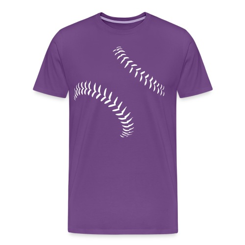Baseball Seams Men's T-Shirt - Men's Premium T-Shirt