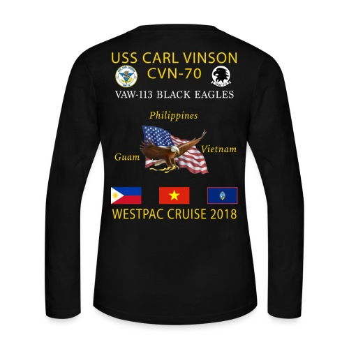 VAW-113 w/ USS CARL VINSON 2018 WOMENS LONG SLEEVE CRUISE SHIRT - Women's Long Sleeve Jersey T-Shirt