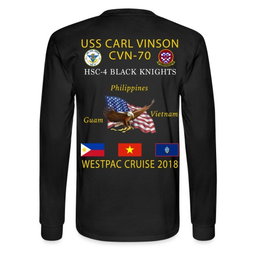 HSC-4 w/ USS CARL VINSON 2018 LONG SLEEVE CRUISE SHIRT - FAMILY - Men's Long Sleeve T-Shirt