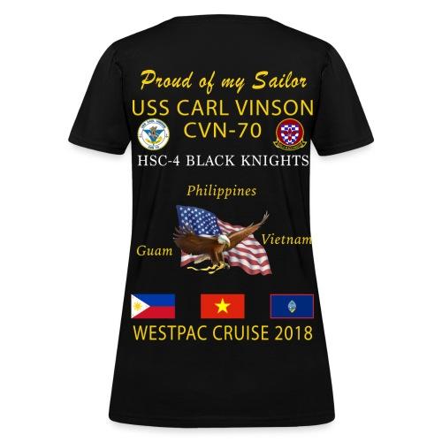 HSC-4 w/ USS CARL VINSON 2018 WOMENS CRUISE SHIRT - FAMILY - Women's T-Shirt