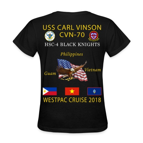 HSC-4 w/ USS CARL VINSON 2018 WOMENS CRUISE SHIRT - Women's T-Shirt