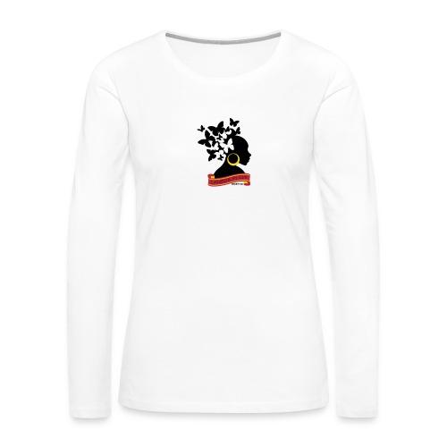 Butterfly Hair Woman Long Sleeve Shirt - Women's Premium Long Sleeve T-Shirt