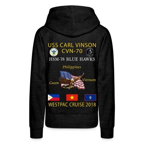 HSM-78 w/ USS CARL VINSON 2018 WOMENS CRUISE HOODIE - Women's Premium Hoodie