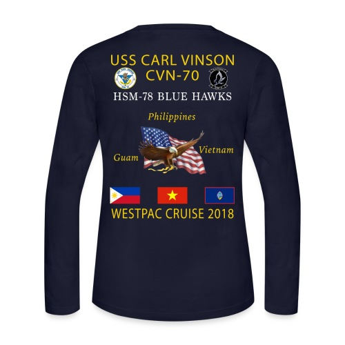HSM-78 w/ USS CARL VINSON 2018 WOMENS LONG SLEEVE CRUISE SHIRT - Women's Long Sleeve Jersey T-Shirt