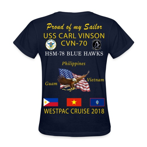 HSM-78 w/ USS CARL VINSON 2018 WOMENS CRUISE SHIRT - FAMILY - Women's T-Shirt