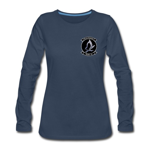 HSM-78 BLUE HAWKS WOMENS LONG SLEEVE - Women's Premium Long Sleeve T-Shirt