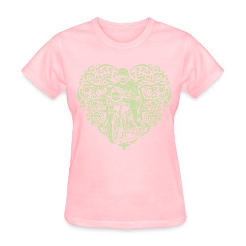 Motorcycle Heart on Grey - Women's T-Shirt