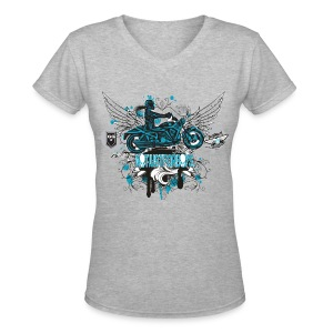 Not Just For Boys on Grey - Women's V-Neck T-Shirt