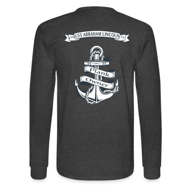 USS ABRAHAM LINCOLN PLANK OWNER LONG SLEEVE