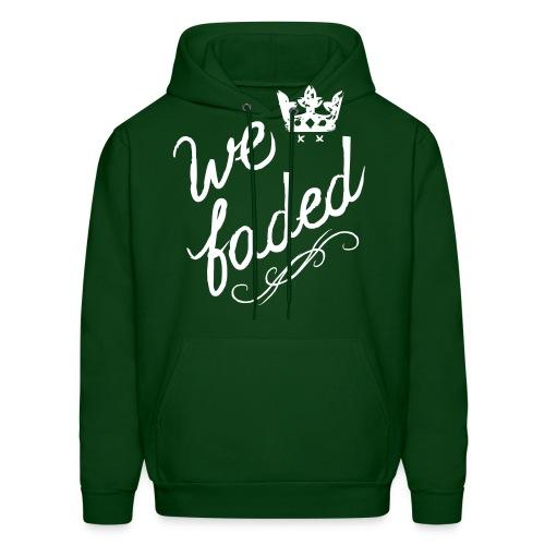 We Faded [faded f on hood] - Men's Hoodie