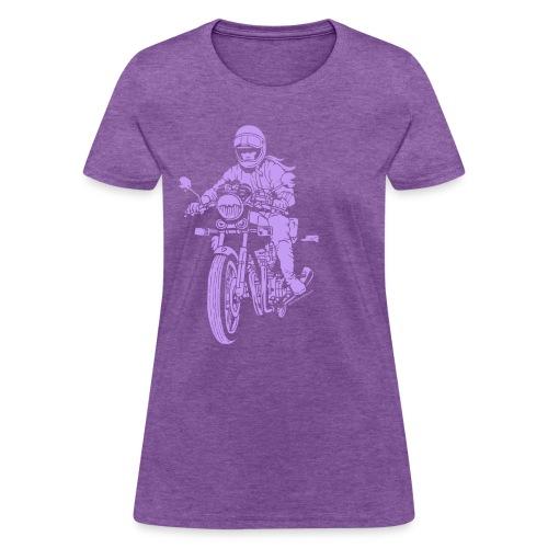 Motorcycle Rider on Brown - Women's T-Shirt