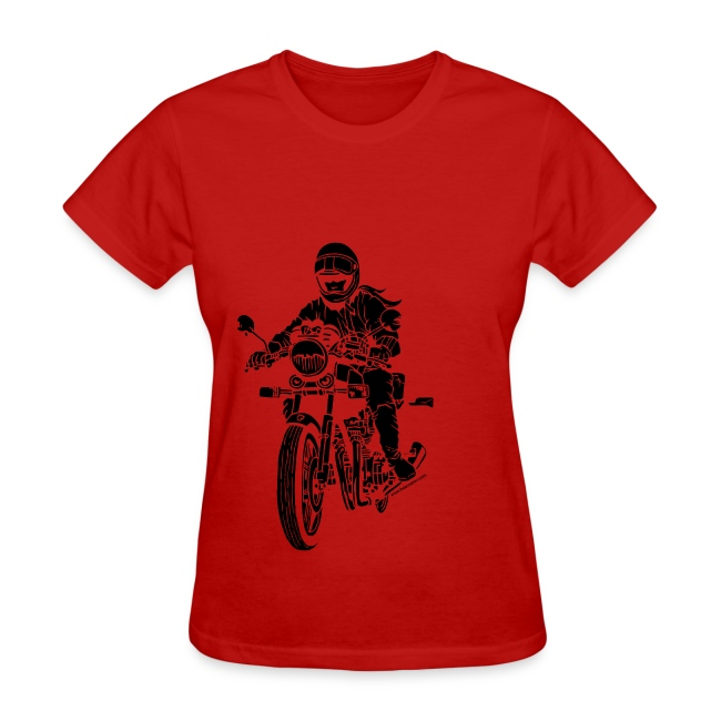 Motorcycle Rider on Red